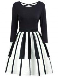Criss Cross Piano Imprimer Vintage Dress -
