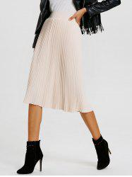 Knitted Pleated Skirt -