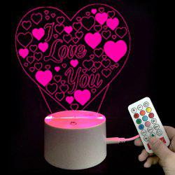 Valentines Gifts Colors Changing I Love You Heart LED Night Light -