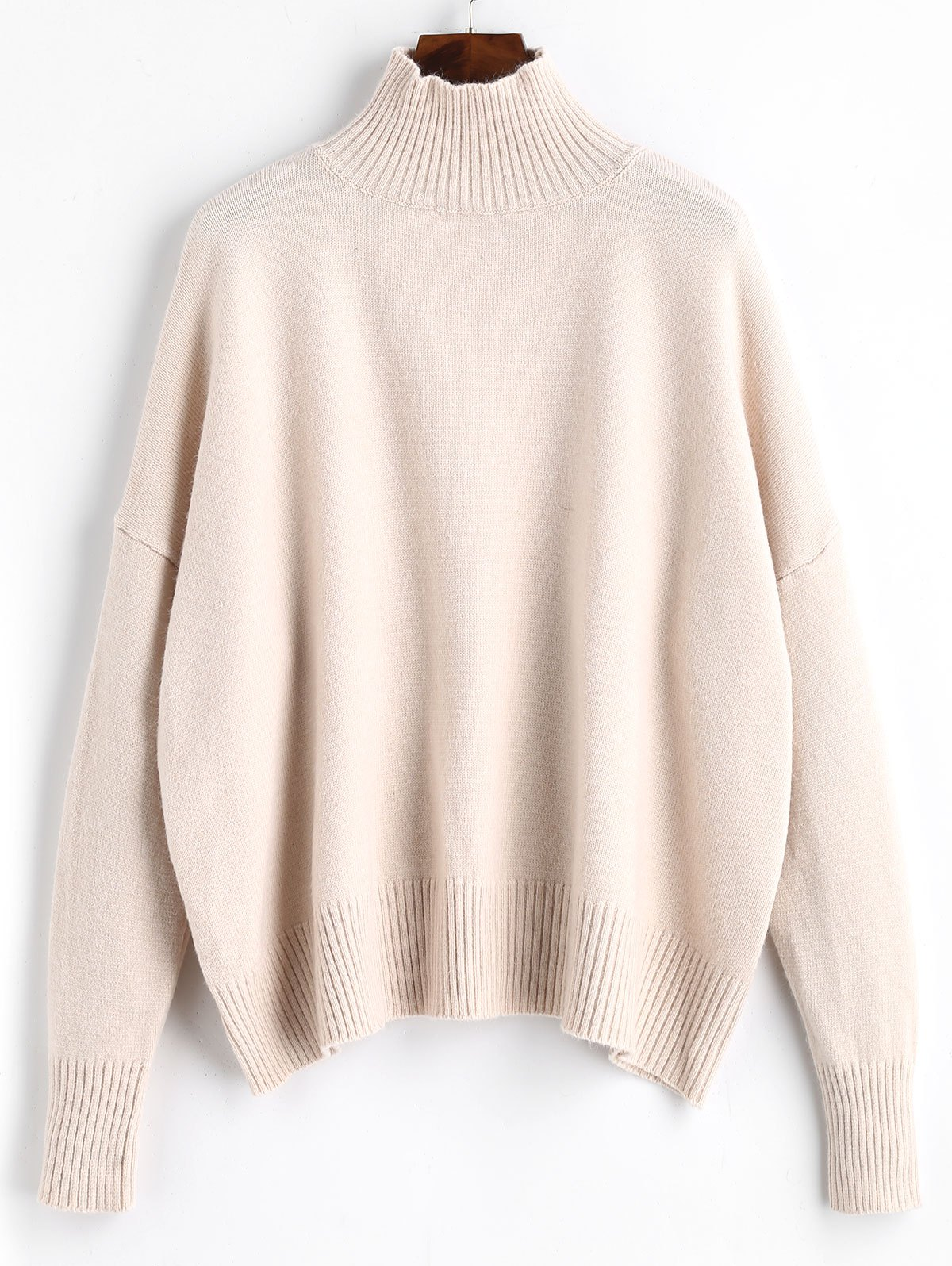 Shop High Neck Ribbed Panel Sweater