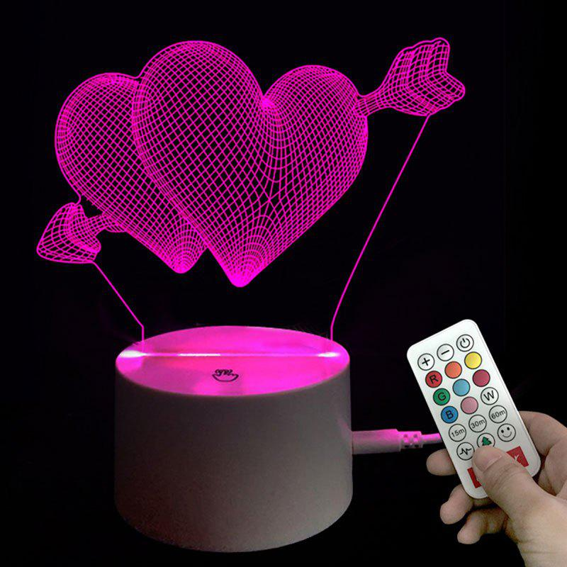 Valentine s Day Heart Arrow Night Light with Remote Control Birthday Gift 242232401