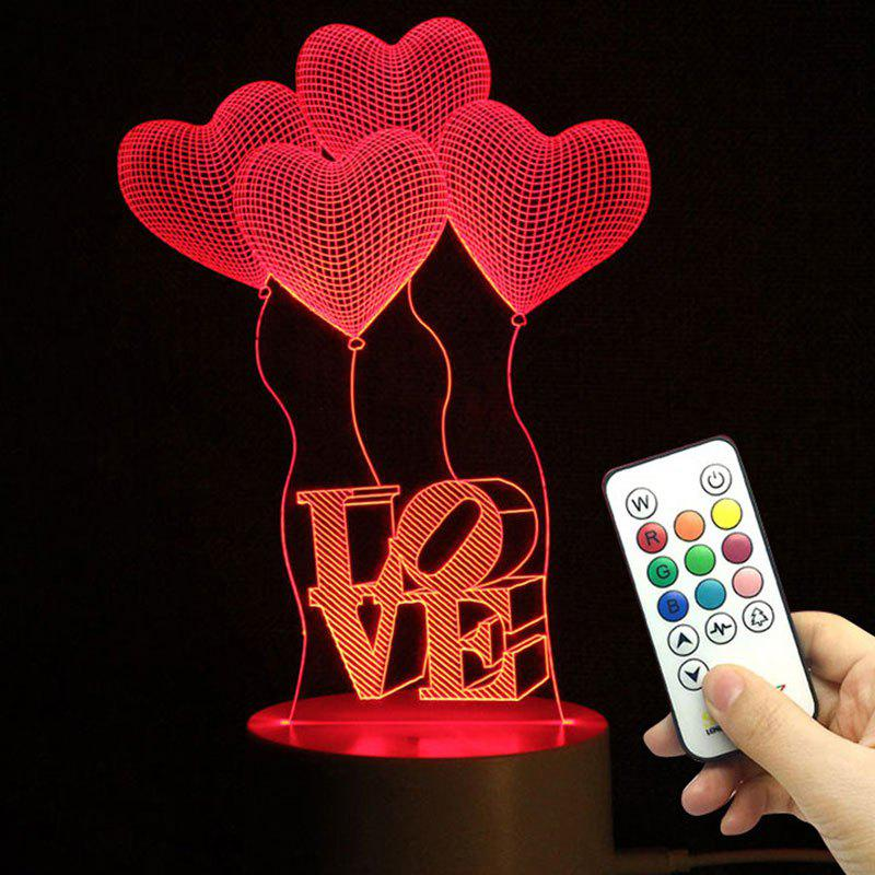 Outfit Mothers Day Valentine Heart Ballon Love Confession Gifts Night Lamp