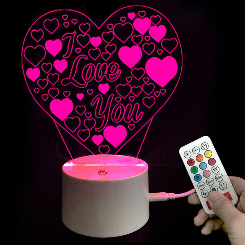 Shops Valentines Gifts Colors Changing I Love You Heart LED Night Light