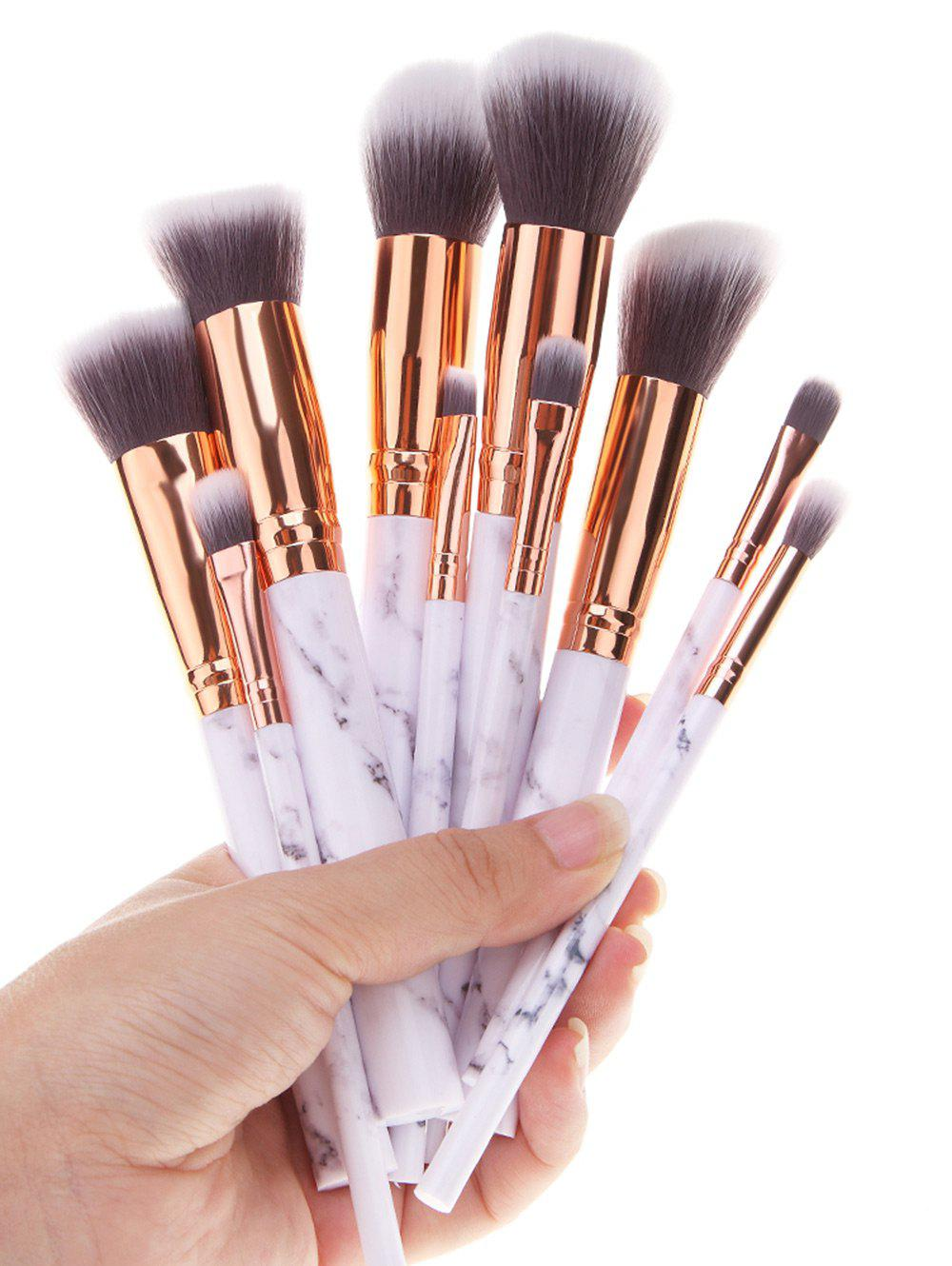 2019 Marble Printed Handle 10pcs Makeup Brushes Set