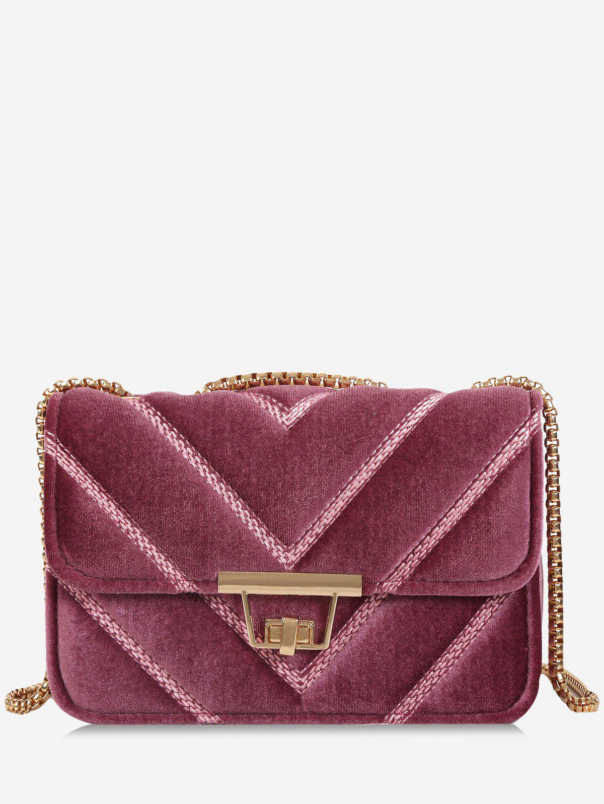 Shops Chain Stitching Quilted Crossbody Bag