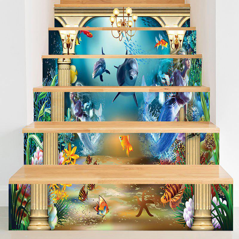 Best Underwater Animal World Pattern Stair Riser Stickers