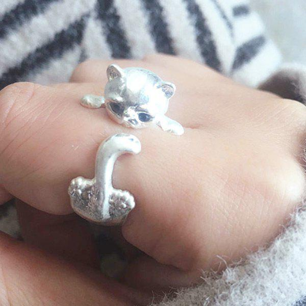 Trendy Cute Kitten Finger Ring