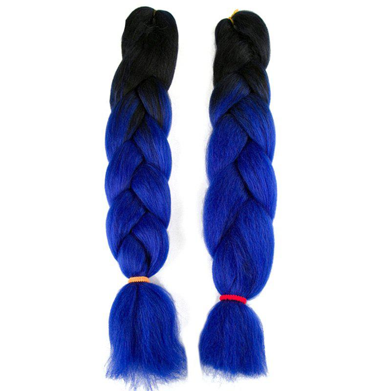 Trendy Long Two Tone X-pression Braid Synthetic Wig