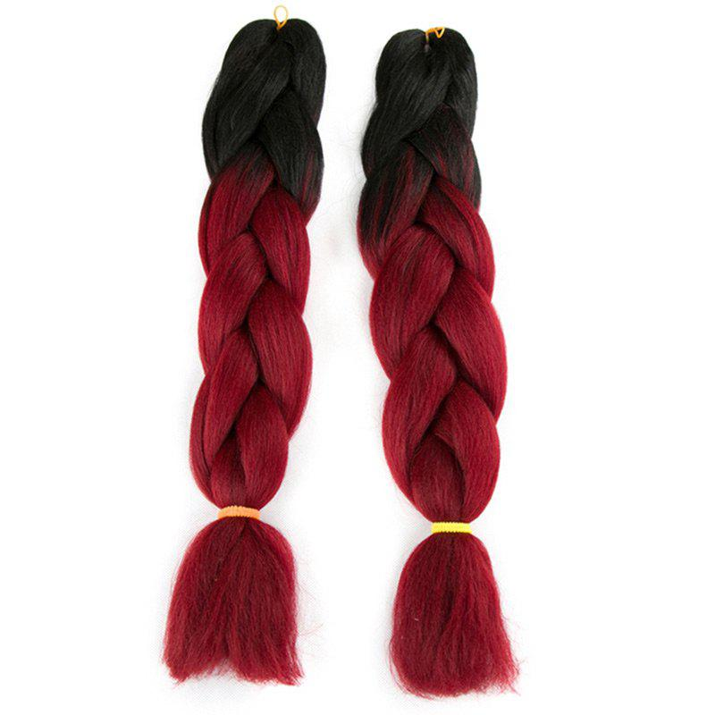 Online Long Two Tone X-pression Braid Synthetic Wig