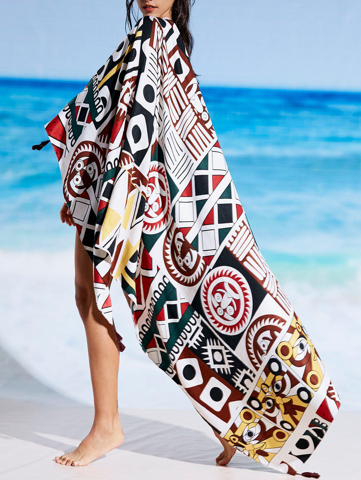 Latest Rectangle Printed Beach Cover Throw