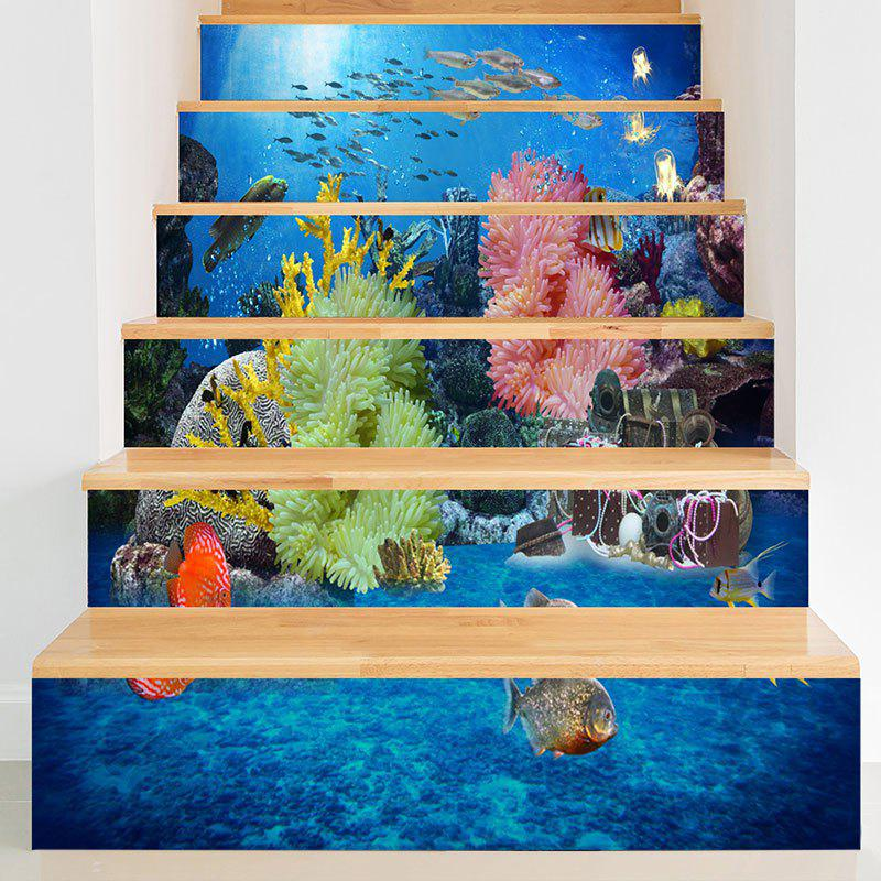 Décalques d'escalier 3D Sea World Print