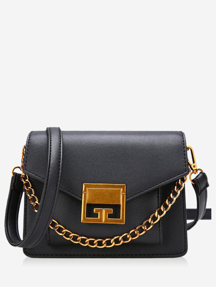 Affordable Faux Leather Metal Chain Crossbody Bag