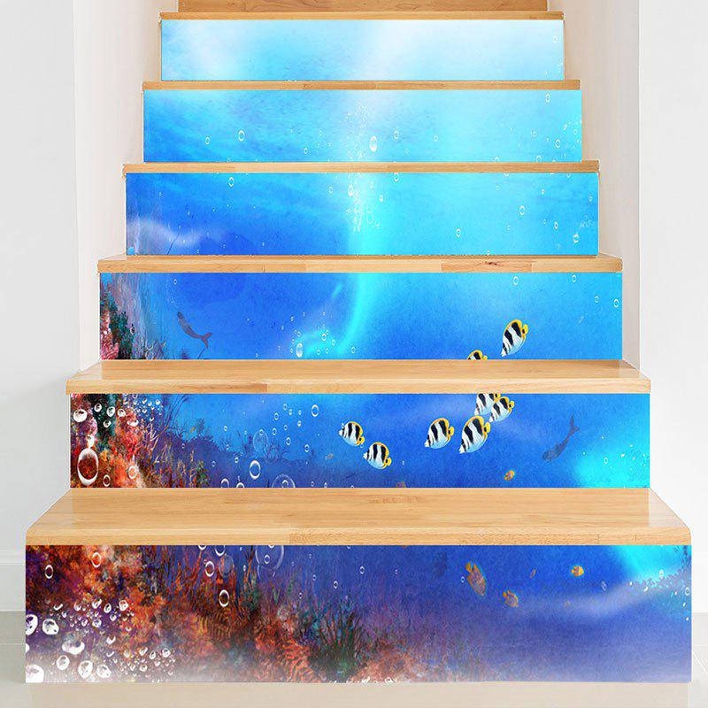 Outfits Sea World Fish Printed Decorative Stair Stickers