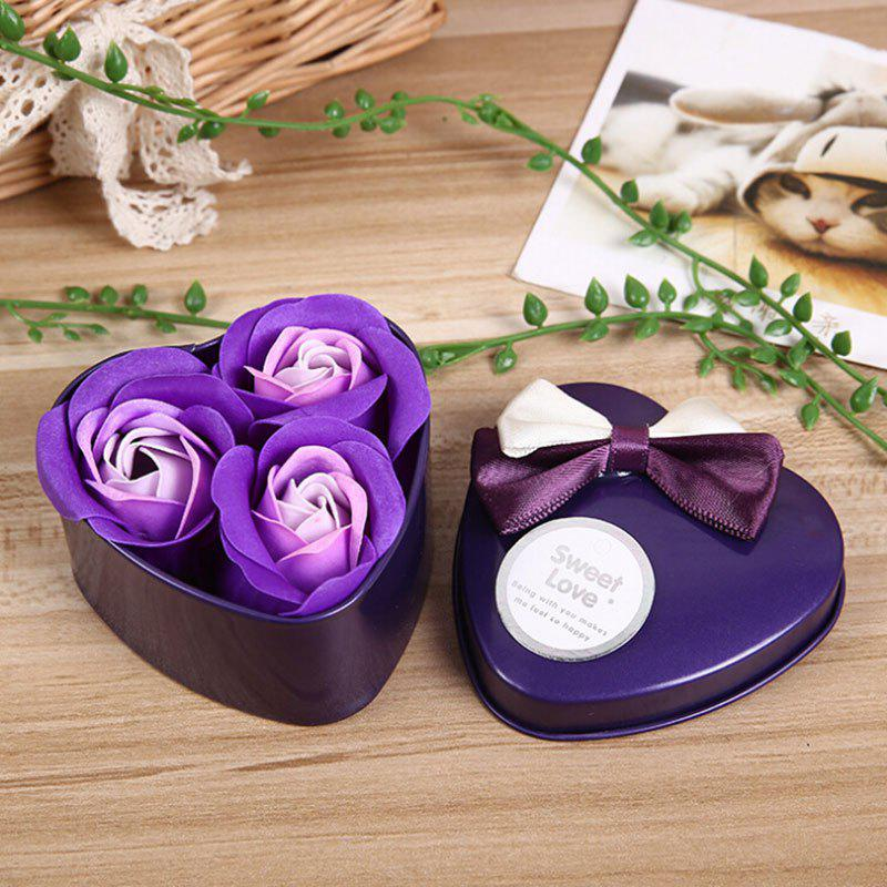 Affordable 3Pcs Valentine Gift Confessions of Love Artificial Roses With Iron Box