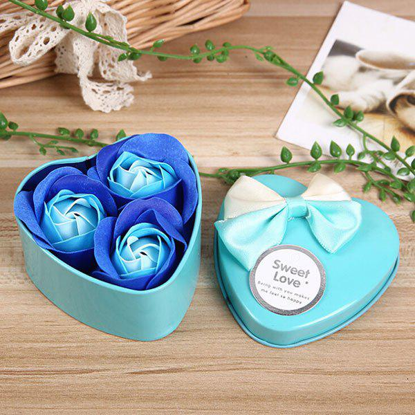 Outfit 3Pcs Valentine Gift Confessions of Love Artificial Roses With Iron Box