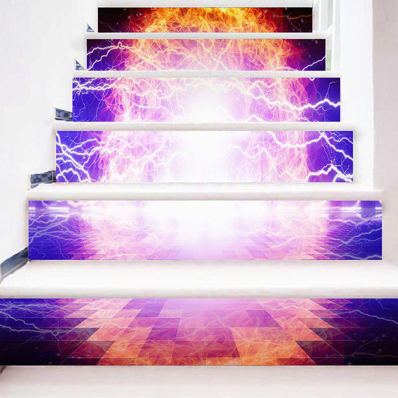 Lightning Fire Pattern Escalier Riser Autocollants