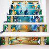 Underwater Animal World Pattern Stair Riser Stickers -