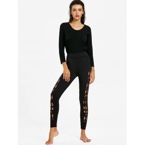 Skinny Hollow Out Leggings -