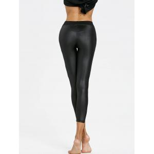 Faux Leather Cropped Skinny Leggings -