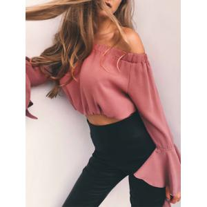 Flare Sleeve Off The Crop T-shirt -