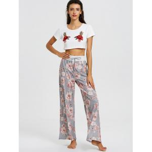 Floral High Waisted Palazzo Pants -