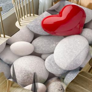 Pebbles Love Heart Printed Waterproof Table Cloth -