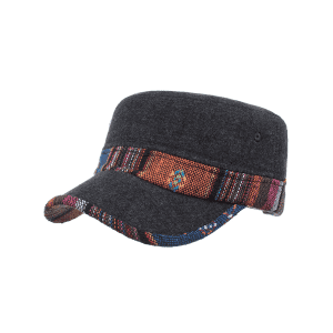 Vintage Ethnic Style Pattern Flat Top Hat -