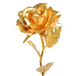Valentine's Day Artificial Plated Rose Flower In A Box -