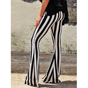 Striped Maxi Bell Bottom Pants -