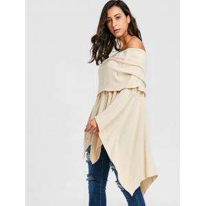 Asymmetric Off The Shoulder Poncho Knitwear -
