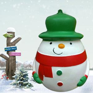 Plump Snowman Squeeze Slow Recovery Stress Reliever Toy -