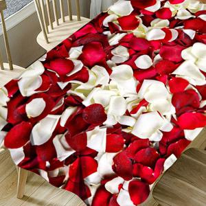 Valentine's Day Petals Pattern Waterproof Table Cloth -
