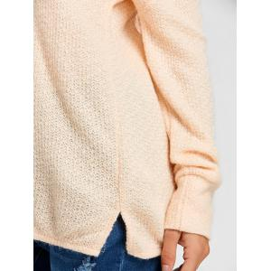 Skew Neck Tunic Sweater -