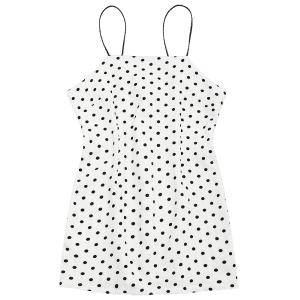 Polka Dot Mini Spaghetti Strap Dress -
