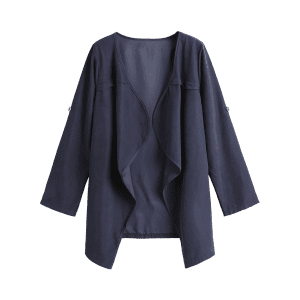 Manteau Drapé Ouvert Simple -