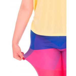 Color Block High Waist Plus Size Leggings -