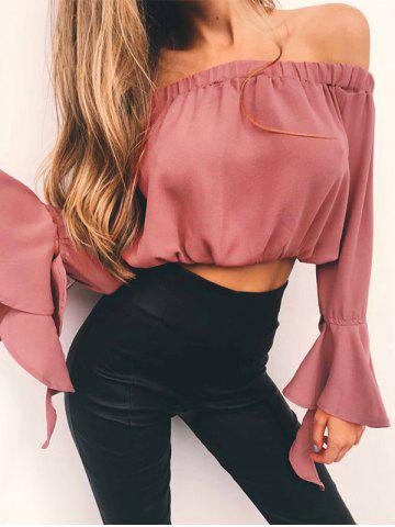 Flare Sleeve Off The Crop T-shirt