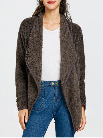 Sale Furry Drape Front Jacket