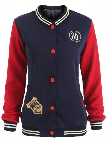 Fashion Patches Baseball Jacket