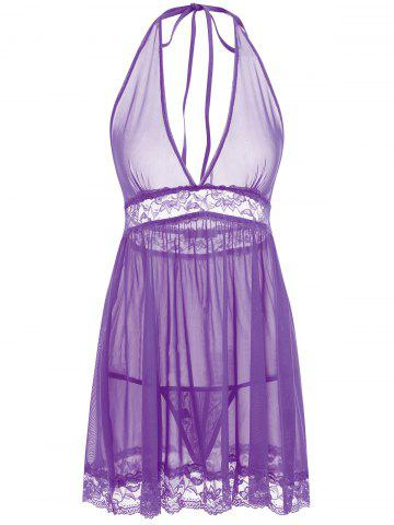 Cheap See Through Mesh Babydoll