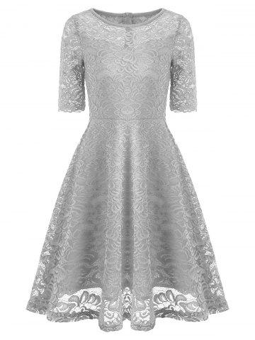 Online Vintage Lace Fit and Flare Dress
