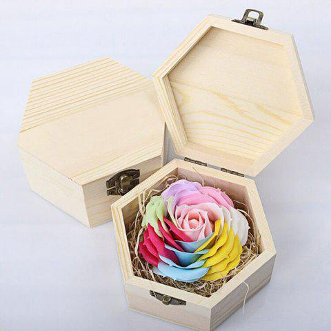 Cheap Hand-carved Soap Rose Scented Gift-set In Decorative Wood Case