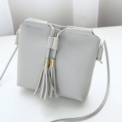 Outfits Faux Leather String Tassels Crossbody Bag