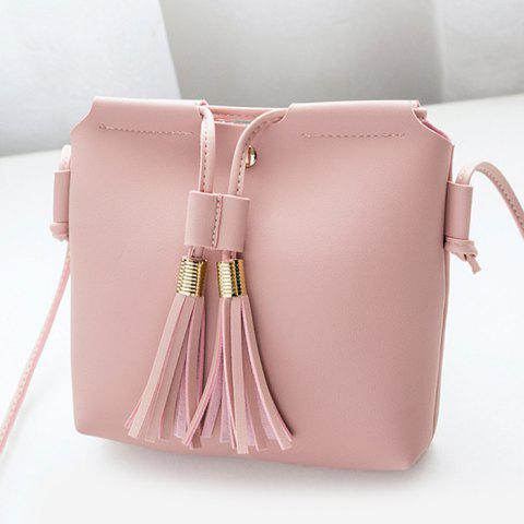 Shops Faux Leather String Tassels Crossbody Bag
