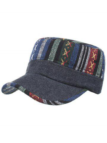 Buy Vintage Ethnic Style Pattern Flat Top Military Hat