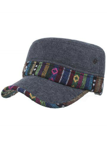Shops Vintage Ethnic Style Pattern Flat Top Hat