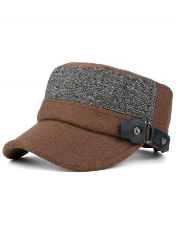 Trendy Simple Flat Top Button Military Hat