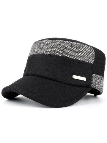 Online Metal Bar Embellished Adjustable Military Hat