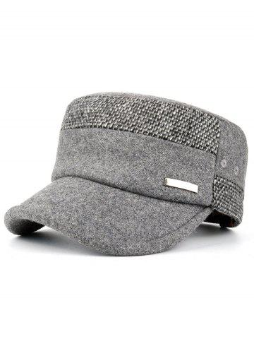 Affordable Metal Bar Embellished Adjustable Military Hat