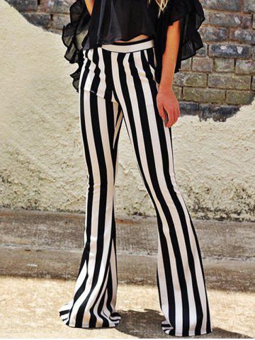 Trendy Striped Maxi Bell Bottom Pants